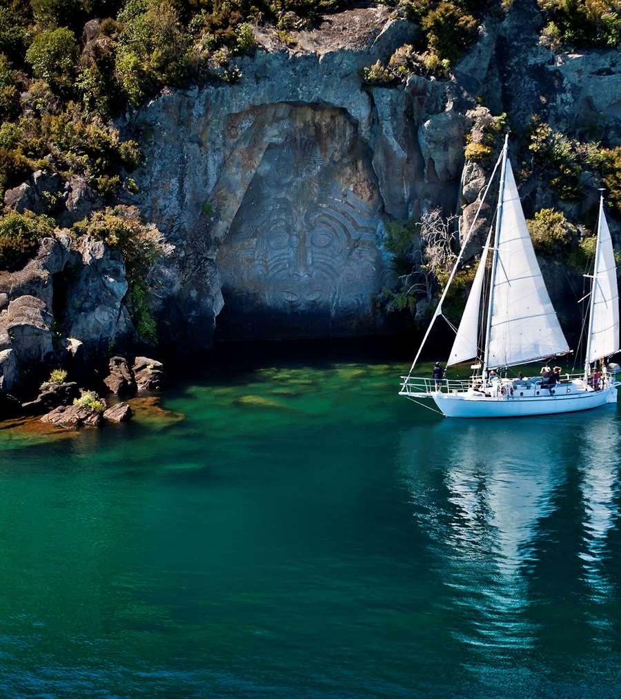 5 Ways To Visit The Ngatoroirangi Mine Bay Maori Rock Carvings Love Taupo