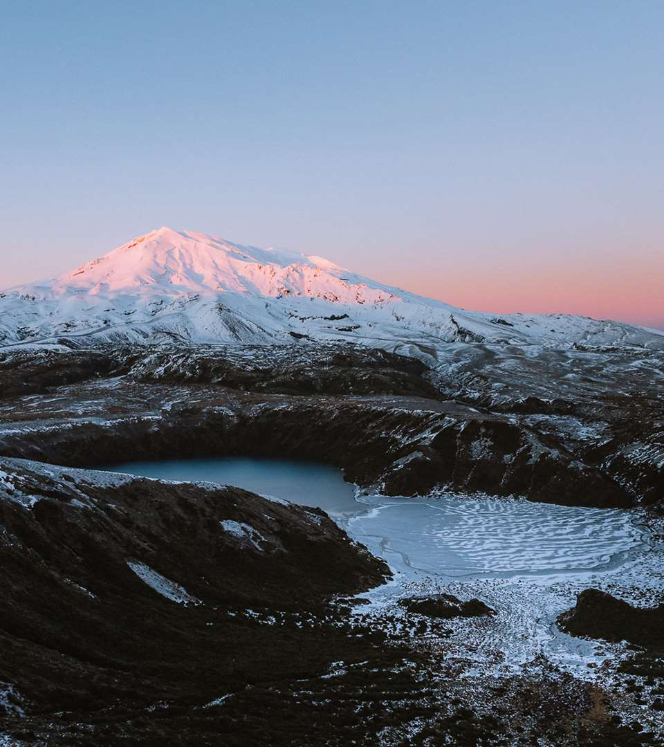 Sunrise at Tama Lakes, Tongariro National Park - Joel McDowell