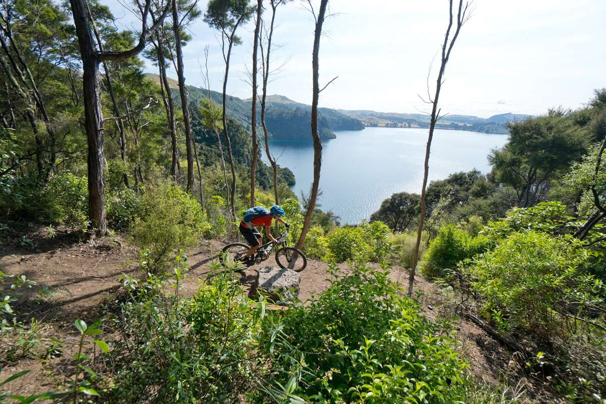 Great Lake Trails Taupo W2K Headland Loop overlooking Lake Taupo